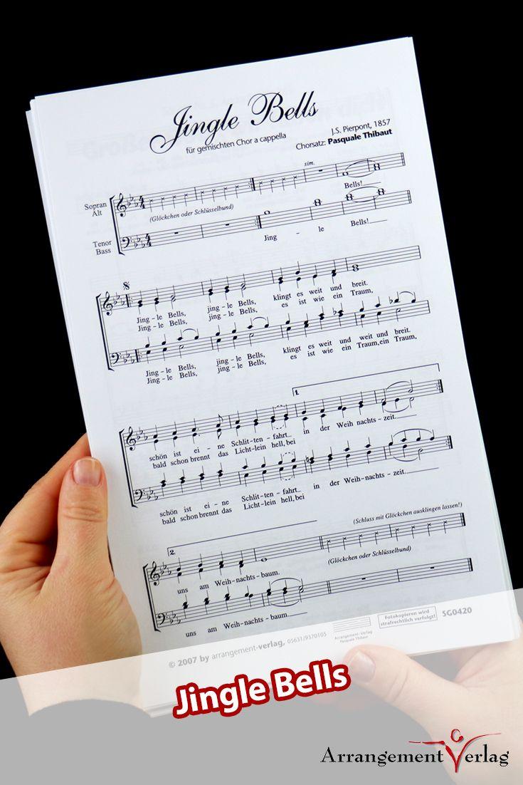 Jingle Bells für Männerchor ✓ Weihnachtslied mit deutschem Text ...