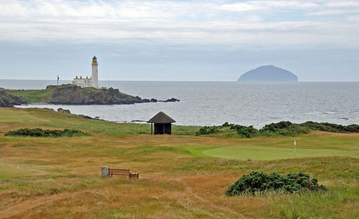 Golf course in Scotland, Turnberry. Golfbaan in Schotland.