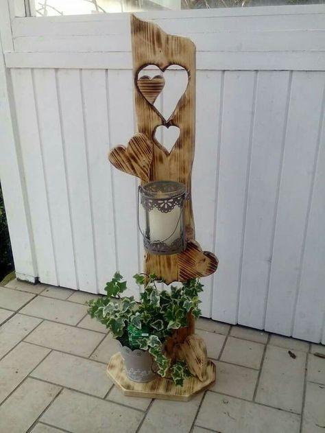 50 best Holz images on Pinterest Woodworking, Candle holders and - gartendekoration aus altem holz