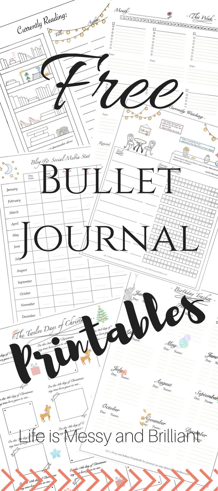 On this page, you will find a collection of girly and elegant bullet journal printables. You may download them and use them...