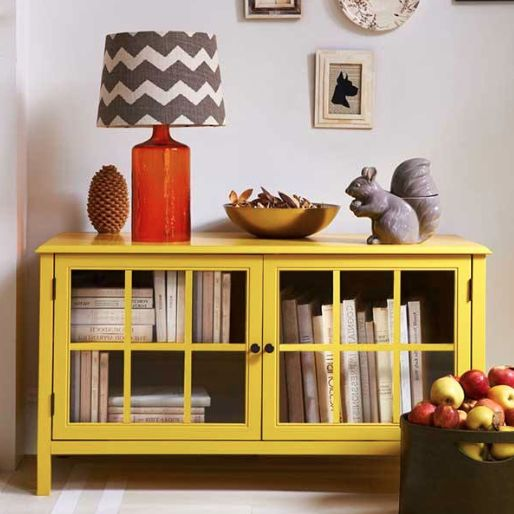 Target Threshold fall decor - OMG I love the book cabinet!!((remove drawers- add shelves and glass cabinet doors))