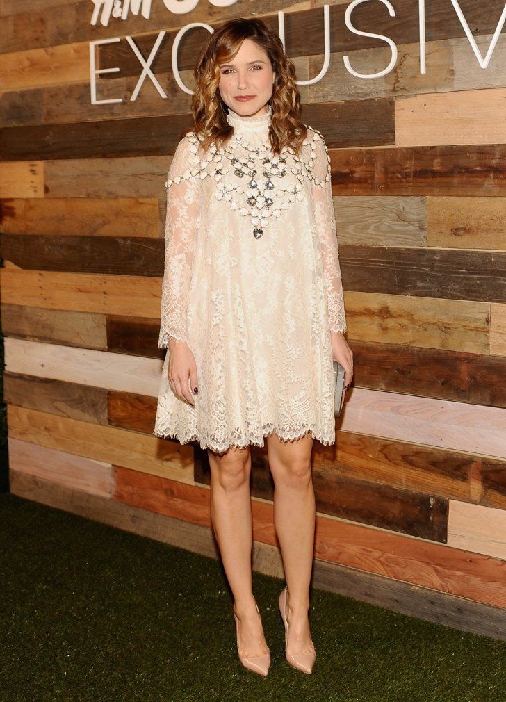 Pin for Later: Shop H&M's Conscious Collection Today Sophia Bush Wearing H&M Conscious Collection Sophia Bush chose the same flirty lace dress from the line that Jessica Alba wore to the brand's Fall '14 show.
