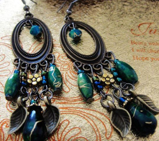 Cheap earring ideas, Buy Quality fashion football directly from China fashion london Suppliers: Fashion peacock green women's vintage alloy earrings FE-001color:peacock greenplating:copper platedMaterial:al