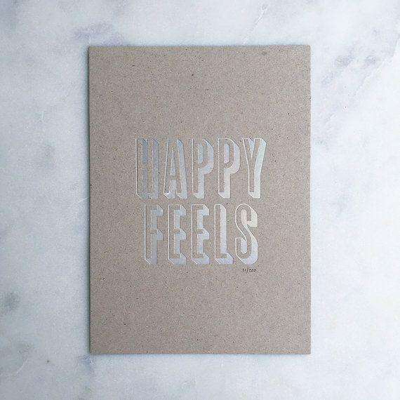 Happy Feels Hologram Print