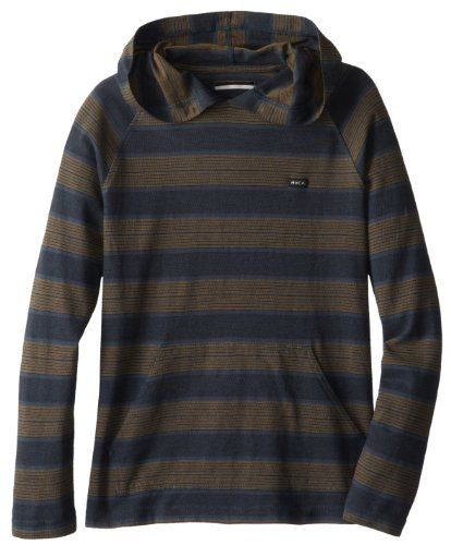 RVCA Big Boys' Tompkin Hood, Midnight, Medium