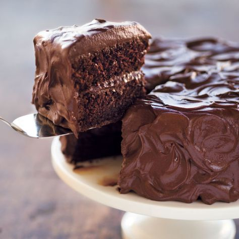 The secret behind this moist chocolate cake is mixing thecocoa powder with boiling water, which allows the chocolate flavor to blossom.