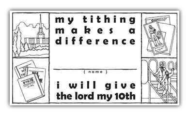 tithing coloring pages - photo#23