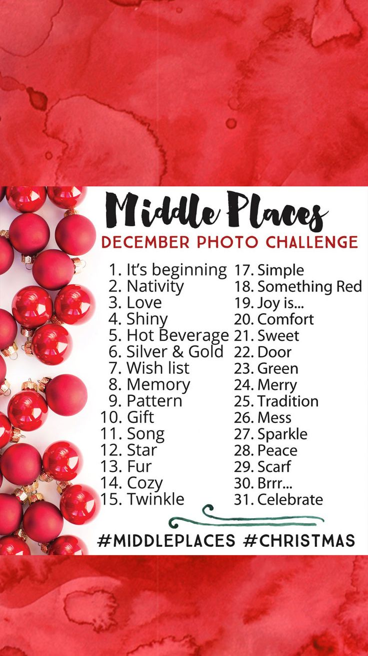 December Photo Challenge 2015 Instagram #middleplaces #christmas