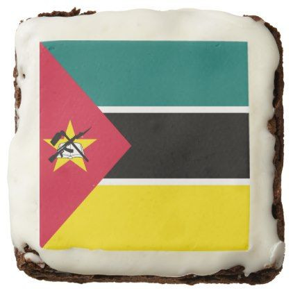 #Mozambique Flag Brownie - #Chocolates #Treats #chocolate