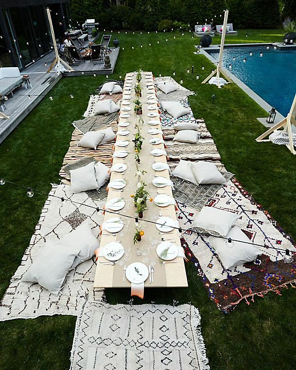 With a wedding to plan, our social media editor shares the outdoor dining room from lifestyle guru Athena Calderone that has her majorly inspired for her special day: https://www.onekingslane.com/live-love-home/modern-boho-outdoor-dining-room/:
