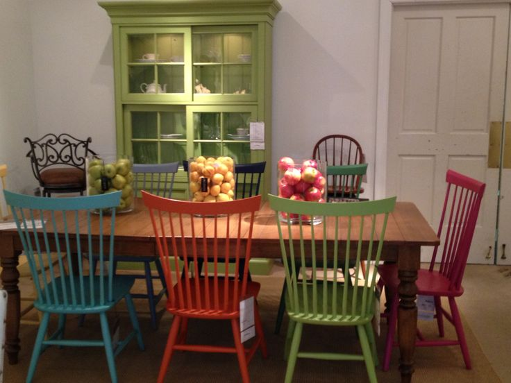 Ethan Allen Colorful Dining We Have This Table And Love