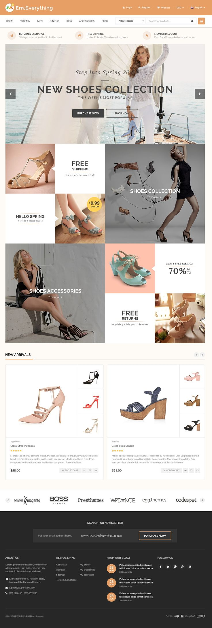 Everthing is premium Magento theme with advanced admin module. Its extremely customizable, easy to use and fully responsive. #Fashion #Clothes #Gifts #eCommerce #webdesign