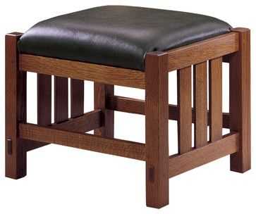 Cool ottoman to build. Stickley Footstool 89/91-495 craftsman ottomans and cubes