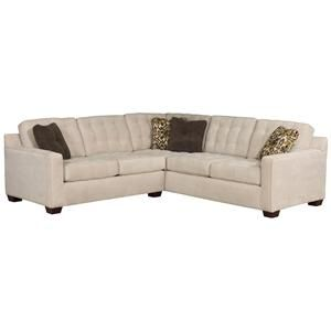 Tribeca Contemporary L Shaped Sectional Sofa By Broyhill Furniture    Riverview Galleries   Sofa Sectional Durham, Chapel Hill, Raleigh