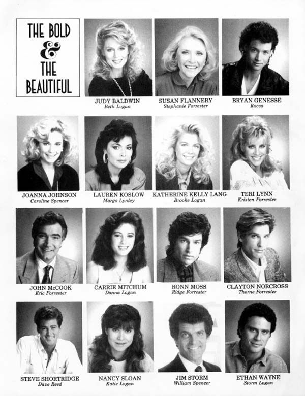 The Bold and the Beautiful original cast of March 23, 1987