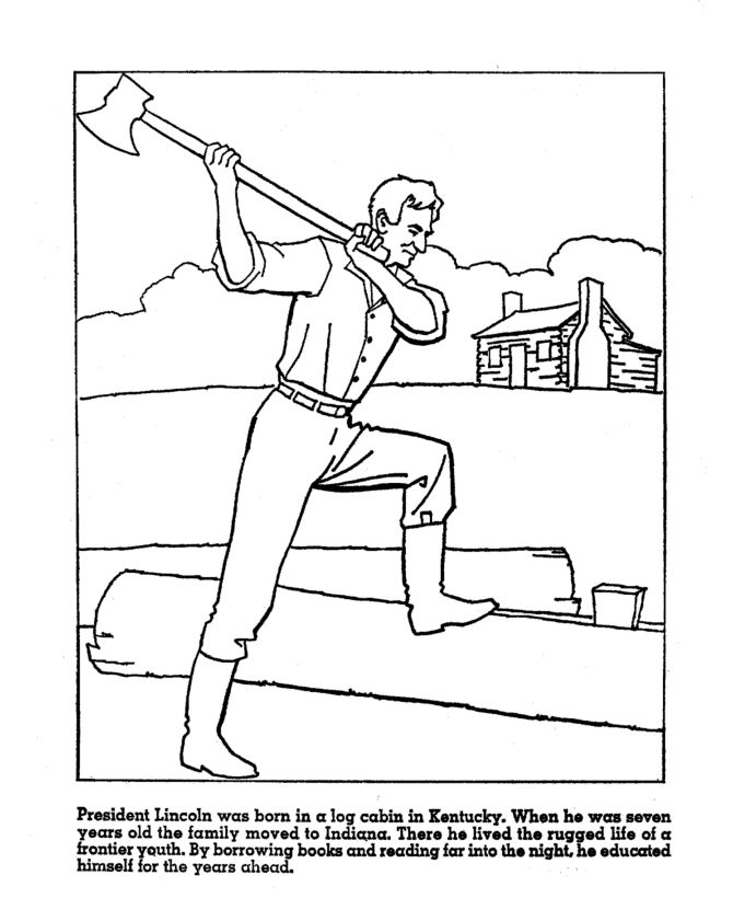 17 best images about abraham lincoln on pinterest early for Lincoln coloring pages