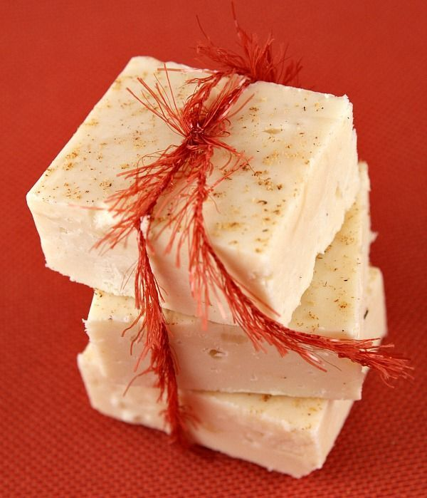 EGG NOG FUDGE!