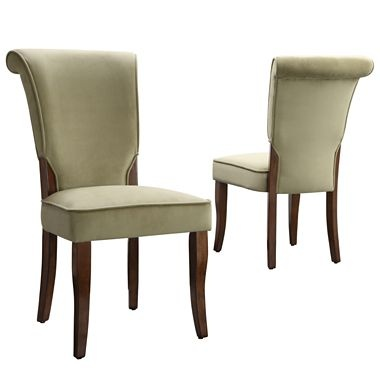 Parsons chair velvet pair jcpenney house furnishings for Jcpenney dining room chairs