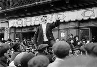 Jules Védrines (1881-1919), aviateur français, lors de sa campagne électorale (candidat à Limoux)   MAURICE-LOUIS BRANGER (1874-1950)