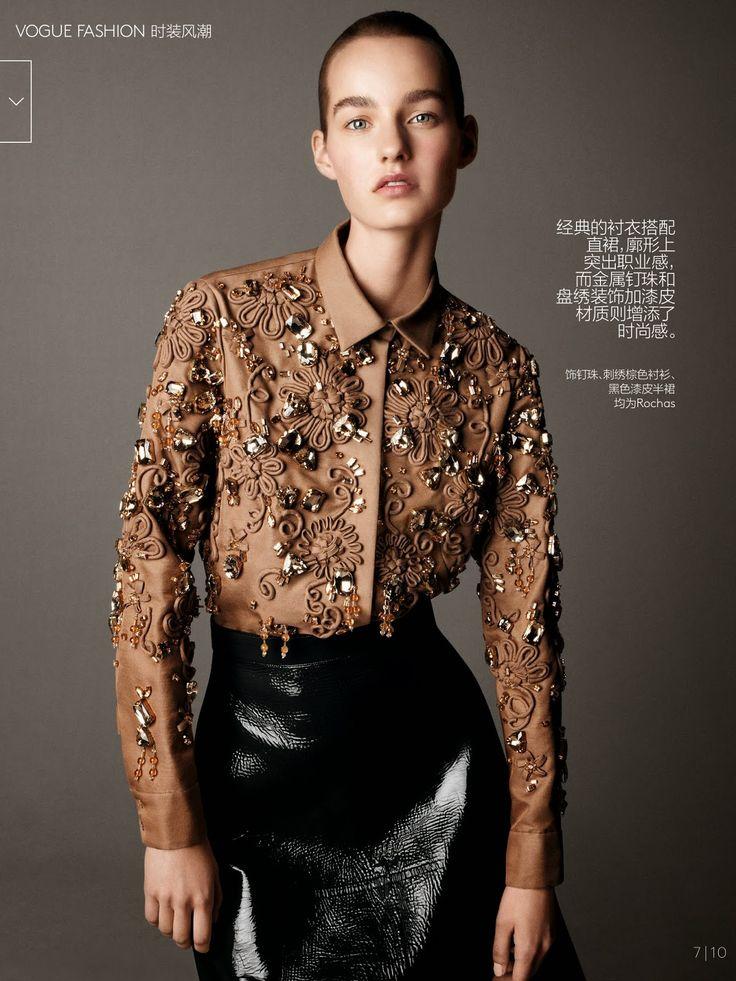 cool Vogue China December 2014 | Maartje Verhoef by Daniel Jackson  [Editorial]
