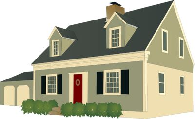 Cape cod style house additions ilustration