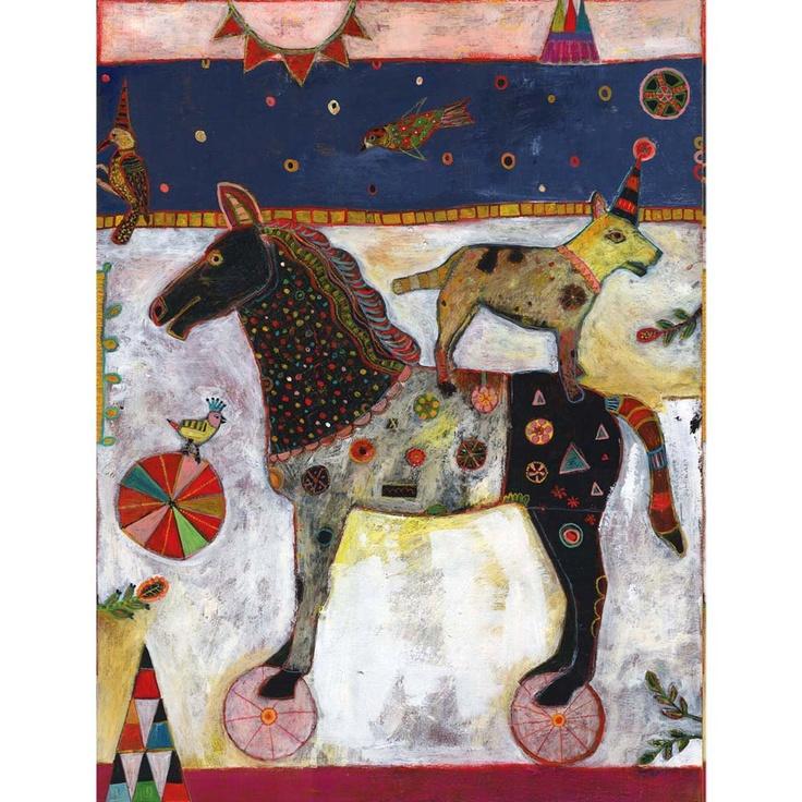 Horse Pink Wheels, Jill Mayberg