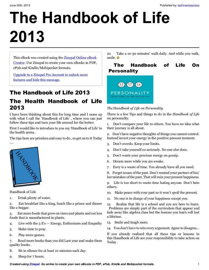 The-handbook-of-life-2013