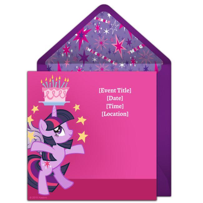 free twilight sparkle birthday invitations in 2018 saige