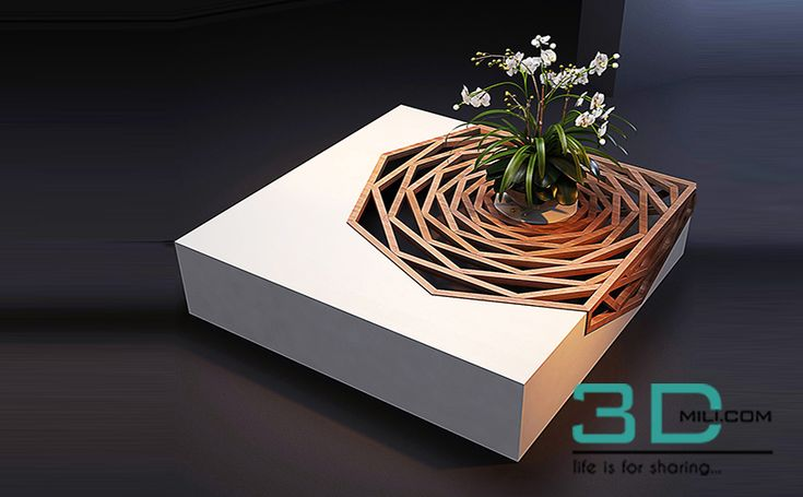 Hanako Cofee table model - 3D Mili - Download 3D Model - Free 3D Models - 3D Model Download