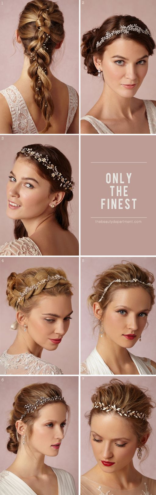 bride hair accessories -- Sakura Halo, Portici Halo, Buttercup Halo, Pearl Petal Halo, Waterway Halo, Starry Skies Halo, Bluebell Halo,