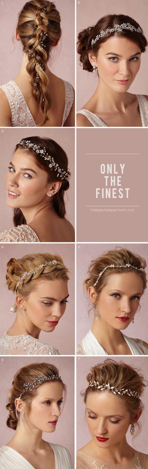 bride hair accessories -- Sakura Halo, Portici Halo, Buttercup Halo, Pearl Petal Halo, Waterway Halo, Starry Skies Halo, Bluebell Halo,