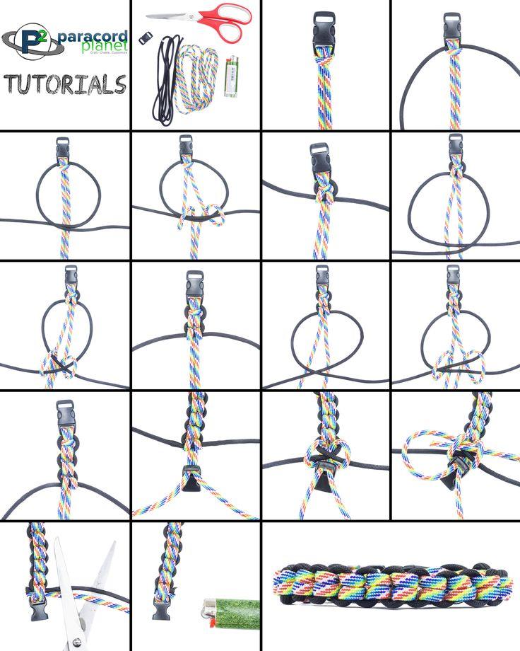 Basket Weave Paracord Bracelet Tutorial : Best images about paracord tutorials on