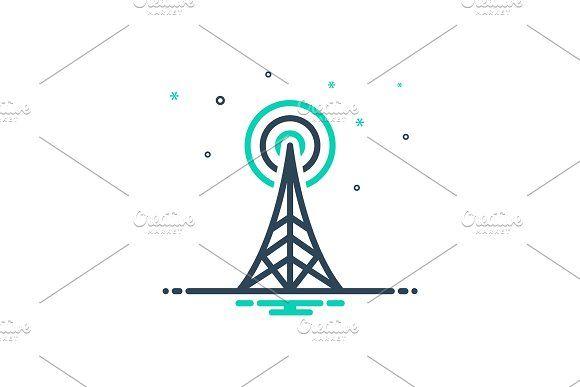 Radio Tower Icon Icon Radio Tower