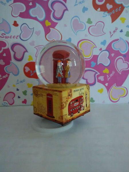 Kotak Musik Bola Salju (Couple - Telephone) - Snowglobe