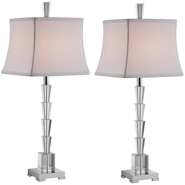 Stein world cadence 2 light set of 2 table lamp clear 94954