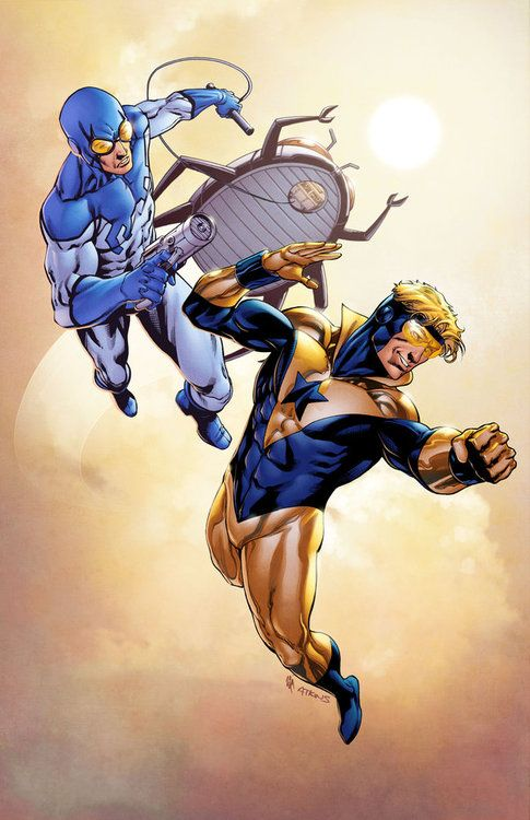 Booster Gold & Blue Beetle // artwork by Robert Atkins and Simon Gough (2012)