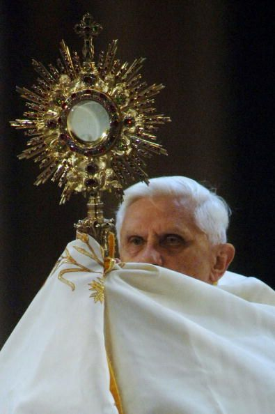 Feast of Corpus Christi. Celebration of the Real Presence of Christ in the Eucharist. Normally celebrated on the Thursday after Trinity Sunday