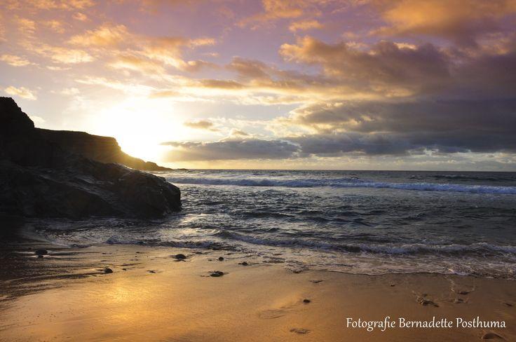 Aan de kust van Fuerteventura. Erg mooie zonsondergang.