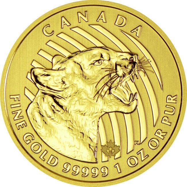 Growling Cougar 1 Unze Gold 2015,  99999/100000 Gold