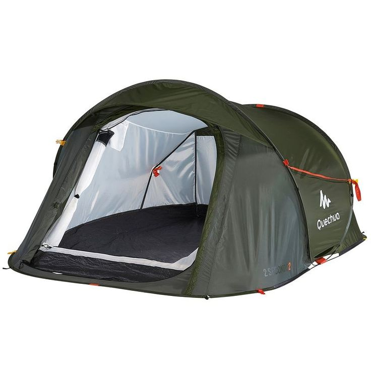 £44.99 - All Tents - 2 Seconds Easy II Pop Up Tent - 2 Man, Dark Green - QUECHUA