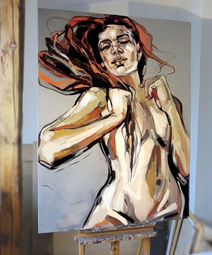 Painting : Anna Bocek - oil on canvas, 130x97cm, 2015