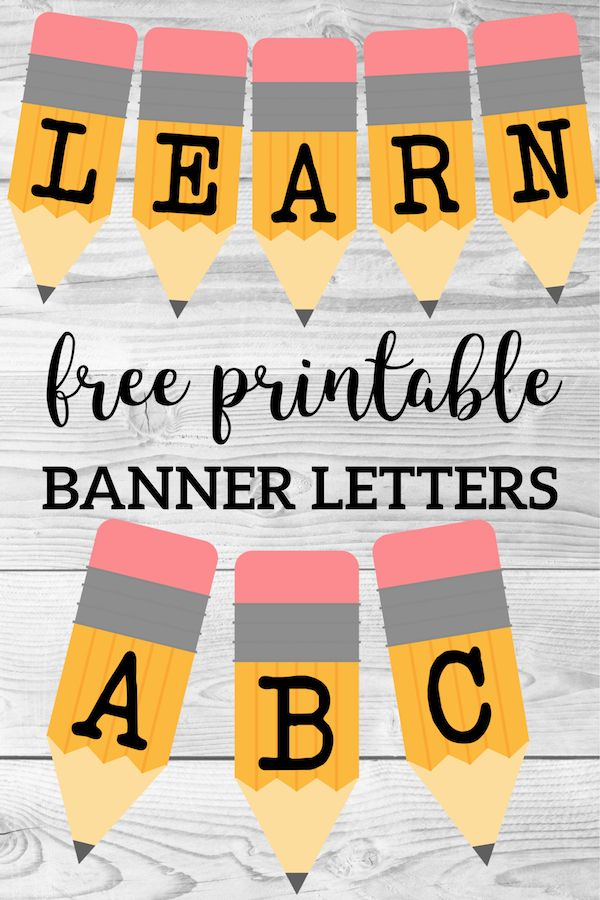 Welcome Back School Banner {Pencil Letters Classroom printables