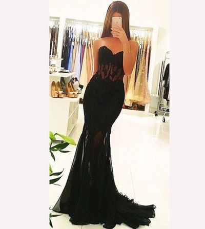 Sexy Long See-through Prom Dress,Black Prom Dress,2017 Prom Dresses,Formal Gown,Sexy Prom Dress,Cheap Prom Dress,Mermaid Cheap Prom Dresses,PD00426