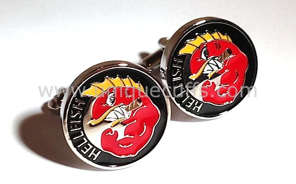 Immortalize your groomsmen gift with custom enamel cufflinks, designed around your own logo, design or call sign!