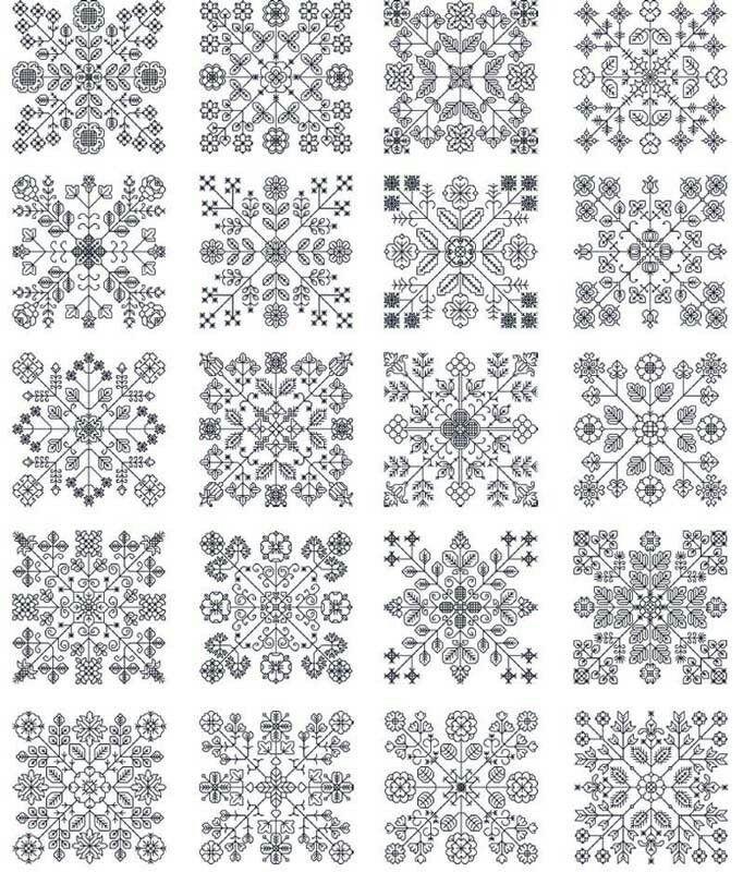 Blackwork squares