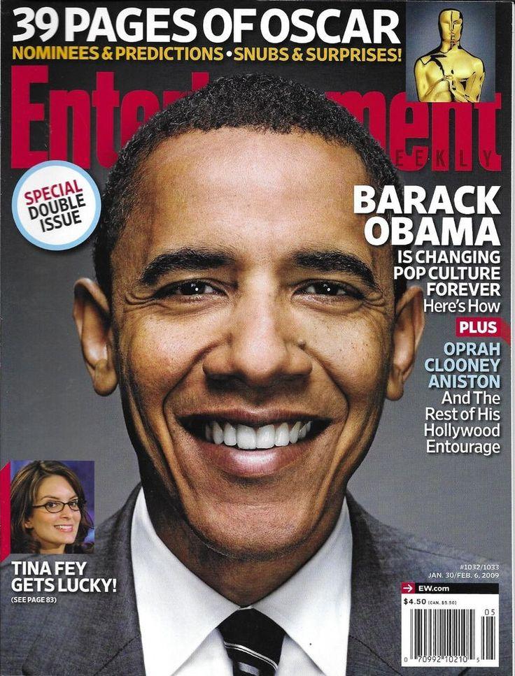 Entertainment Weekly magazine Barack Obama Oscars Jerry Lewis Brendan Fraser