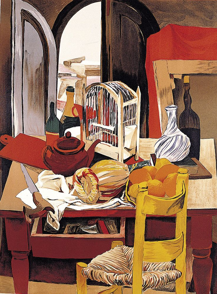 Renato Guttuso - Table, chair and cage