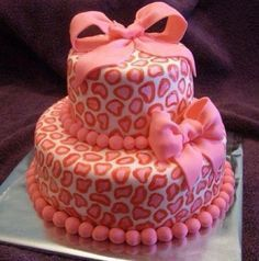 For the day that I have a baby girl - baby shower cake!