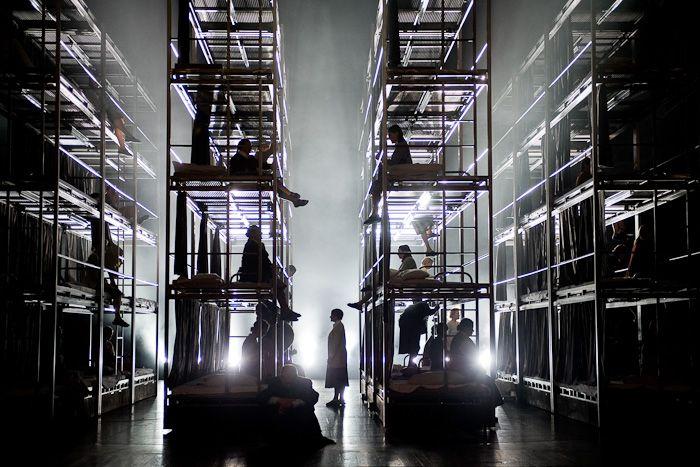 "Komische Oper - ""Les dialogues des Carmélites"" by F. Poulenc - Director: Calixo Bieito, Set Designer: Rebecca Ringst, Costume Designer: Ingo Krügler - Photo: Monika Rittershaus"