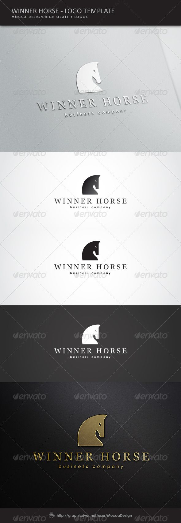 Winner Horse Logo #GraphicRiver Winner Horse is a clean, professional and elegant logo suitable for any kind of business or personal identity which requires a solid, noble and strong image.